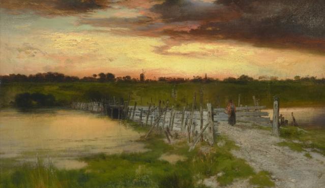 The Old Bridge Over Hook Pond, East Hampton, Long Island Thomas Moran1907/1907
