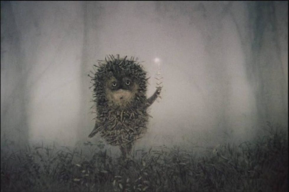 STILL FROM HEDGEHOG IN THE FOG.